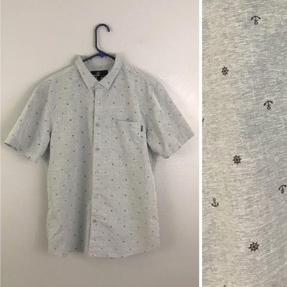 7bbe0f7c Molokai Gray Nautical Print Short Sleeve Button Up.  M_5a6e273e8290afd00c15c830